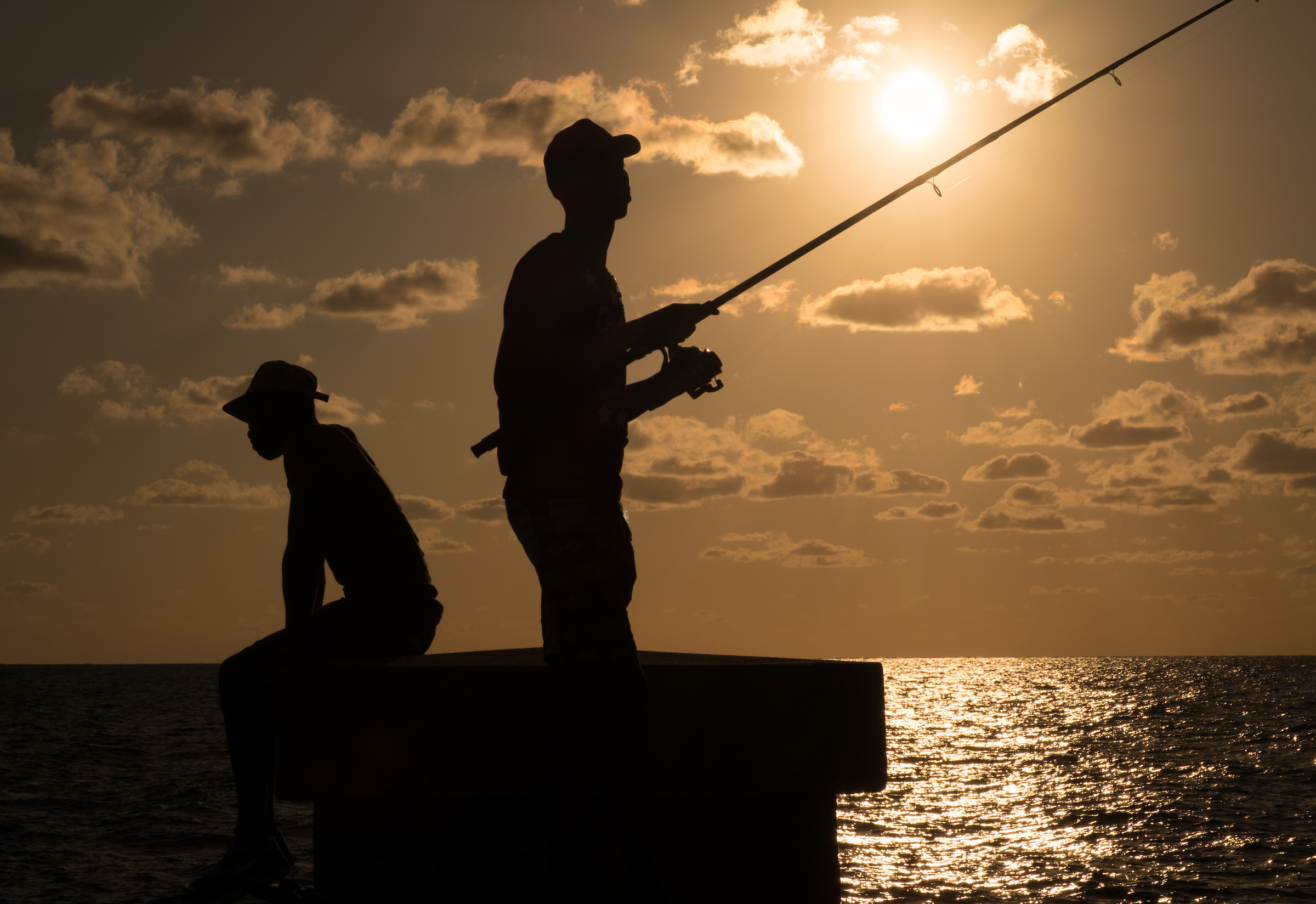 Fishing in the Malecon