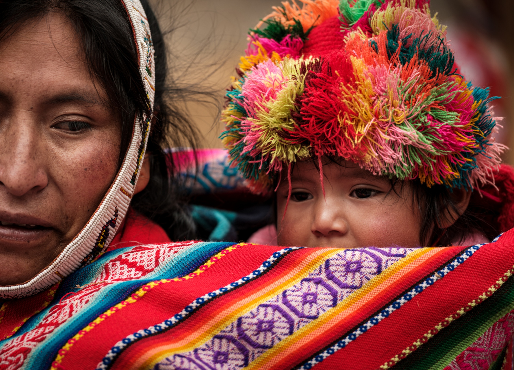Portrait of Peruvian Baby and Mother