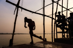 Jumping in the Ganges