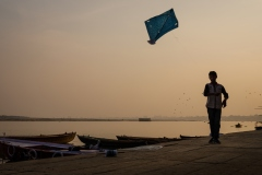 Kids Flying Kites in Varanasi