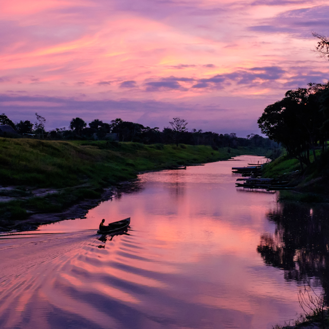 One Photo | Sunrise in the Peruvian Amazon, Peru.
