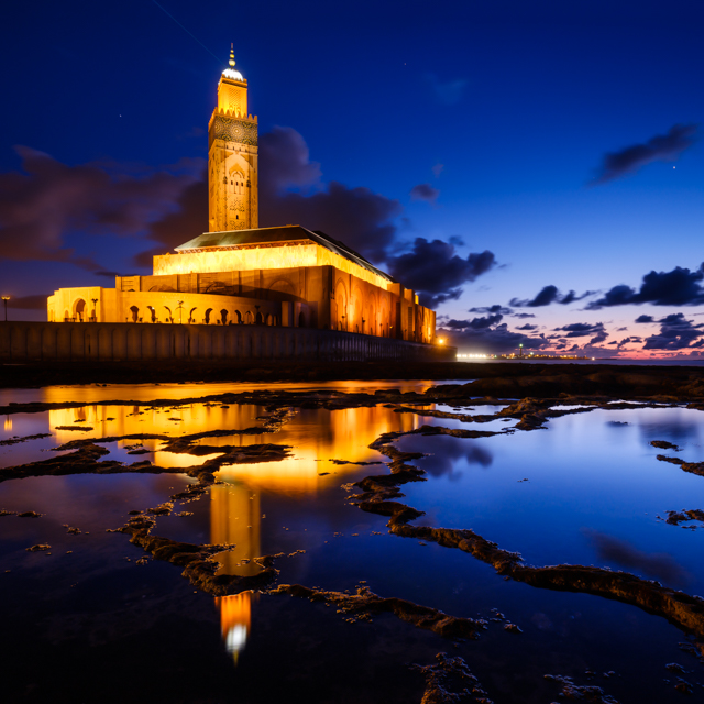 One Photo | Mosque Hassan II, Casablanca, Morocco