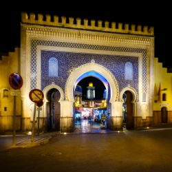 One Photo | The Blue Gate in Fez, Morocco