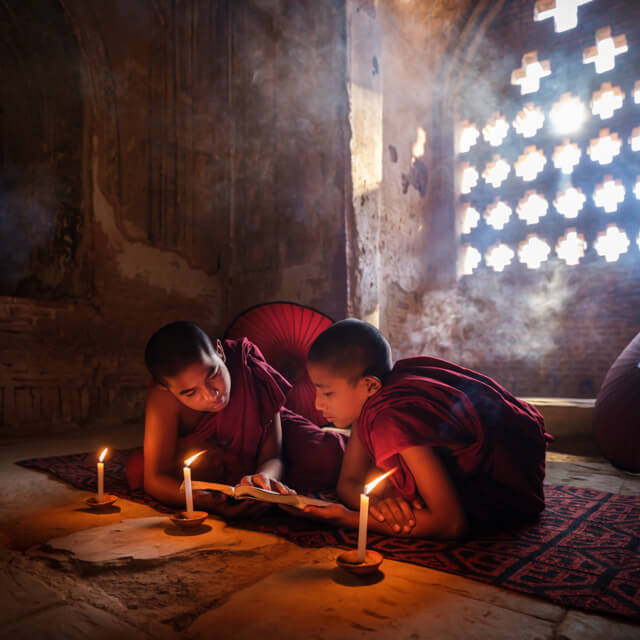 One Photo | Novice Monks in Bagan, Myanmar